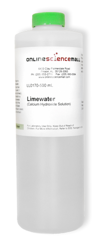 Limewater (Calcium Hydroxide Solution), 500mL - Chemical Reagent