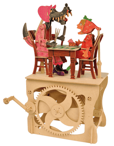 Clockwork Dreams Little Red Riding Hood Wooden Automata Kit