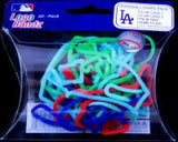 LA Dodgers MLB licensed Logo Bandz Rubber Bands 20pk