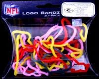 Green Bay Packers NFL licensed Logo Bandz Rubber Band Bracelets 20pk