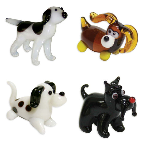 Looking Glass Torch - Canine Figurines - Terrier, Dalmatian, Spaniel & Pointer (4-Pack)