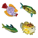 Looking Glass Torch - Fish Figurines - Flounder, Dorado, Tuna & Puffer (4-Pack)