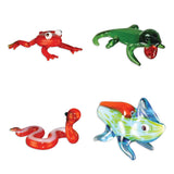 Looking Glass Torch - Reptiles- DartFrog, Anole, Snake & Chameleon (4-Pack)