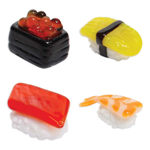 Looking Glass Torch - Sushi Miniatures - Salmon Egg, Egg, Tuna & Shrimp (4-Pack)