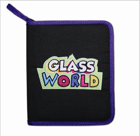 Looking Glass Torch Figurine-PURPLE Trim Nylon Carrying Case- Space for 24 Miniature Figurines