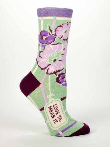 Love Ya, Mean It Women's Dress Socks by Blue Q