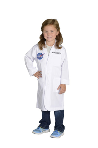 Jr. Rocket Scientist White Lab Coat with NASA Logo - Child Size 6 - 8 by Aeromax