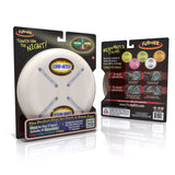 Flite by Nite White Lumi-Niter Glow in the Dark Light Up Flying Disc w GlowSticks