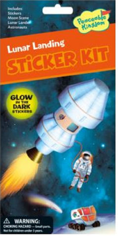 Peaceable Kingdom Lunar Landing Sticker Kit