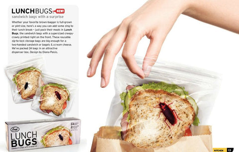 Lunch Bugs Novelty Plastic Storage Bags
