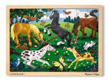 Frolicking Horses Jigsaw Tray Puzzle 48 Wooden Pieces