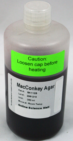 350mL Bottle of Ready-to-Pour MacConkey Agar