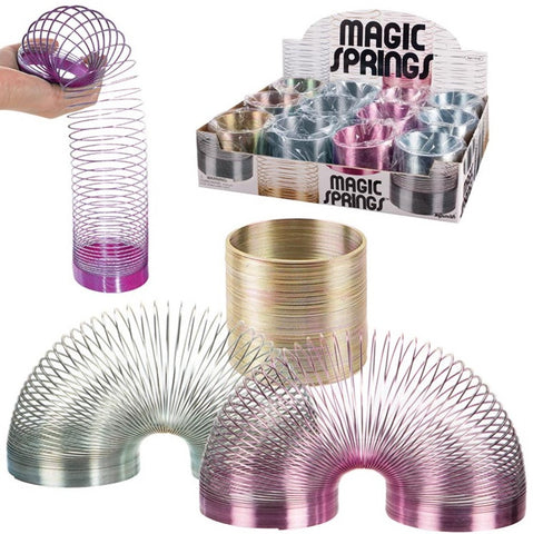 Metal Magic Spring 2.5 Inch Coiled Toy - Colors Vary