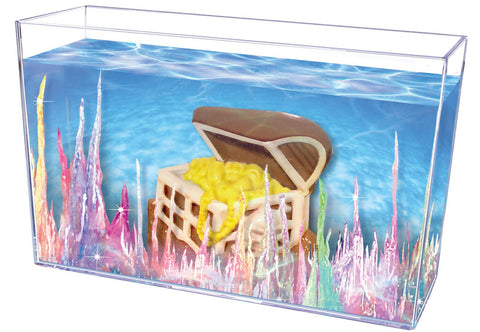 Magic Rocks Crystal Growing Treasure Chest Aquarium By Toysmith