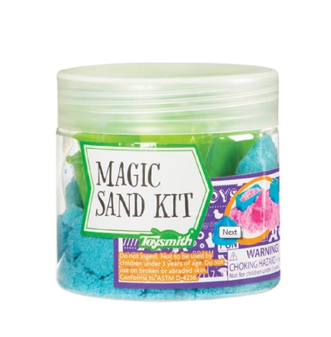 Magic Kinetic Blue Sand Kit with Molds by Toysmith