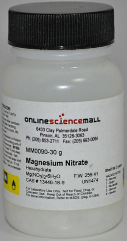 Magnesium Nitrate, Hexahydrate, 30g - Chemical Reagent