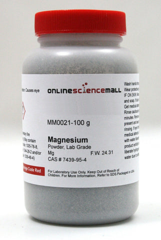 Magnesium Powder, 100g - Lab Grade Chemical Reagent