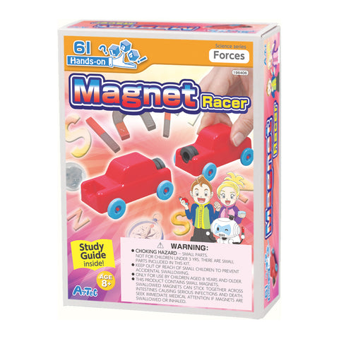 Magnet Racer Experiment Kit and Study Guide By Artec