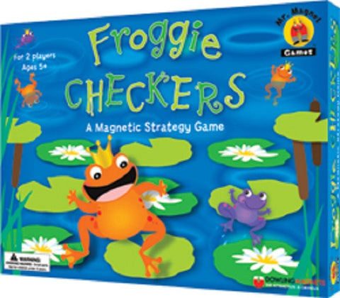Froggie Checkers Magnetic Game Ages 5+