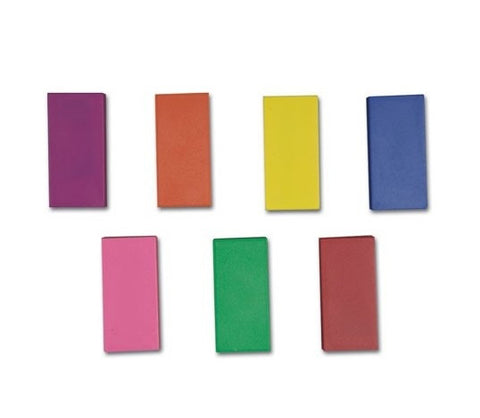 Magnetic Plastic Encased Blocks 7 Color Assortment