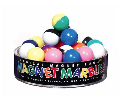 Magnetic Marbles Half & Half: 20 Split Colored