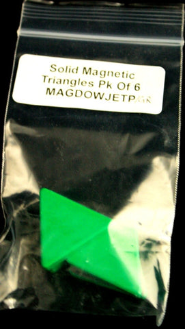 Magnetic Painted Triangles Pack of 5-Green