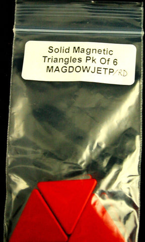 Magnetic Painted Triangles Pack of 5-Red