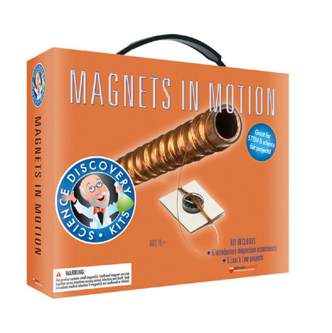 Science Discovery Kit Magnets In Motion Study Magnetism & Build Galvanometer