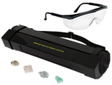 11 Watt Enhanced Midwave (307nm) & Longwave (365nm) UV Lamp w/ Fluorescent Mineral Samples & Safety Glasses