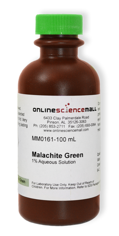Malachite Green, 1% Aqueous Solution, 100mL - Chemical Reagent