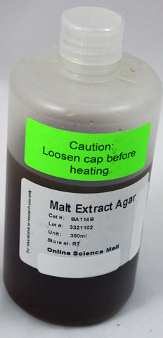 350mL Bottle of Ready-to-Pour Malt Extract Agar