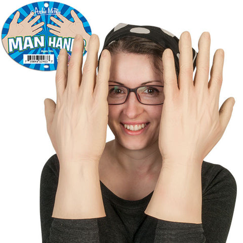 14 Inch Latex Man Hands By Accoutrements