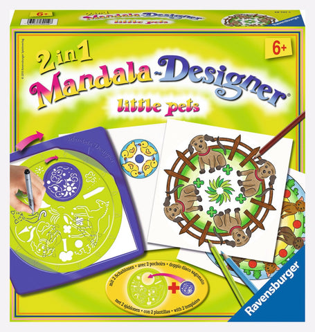 2 in 1 Mandala Designer Arts & Crafts Kit by Ravensburger - Little Pets