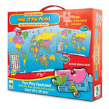 Puzzle Doubles-Map Of The World-100 Pc Puzzle & Poster Activity Set