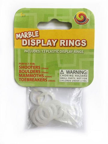 Marble Display Rings Pack of 12 Plastic Shooter Stands by Mega Fun