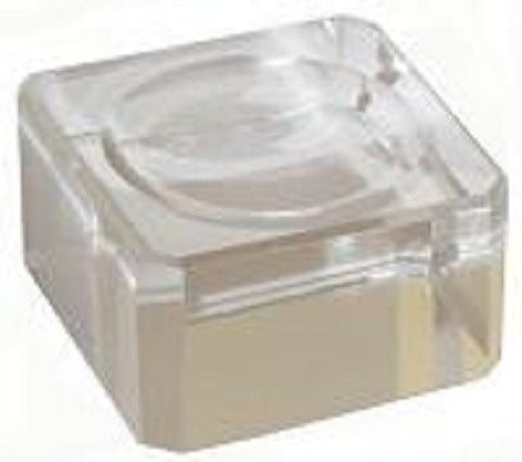 25mm Clear Glass Display Stand for Collectible Marble