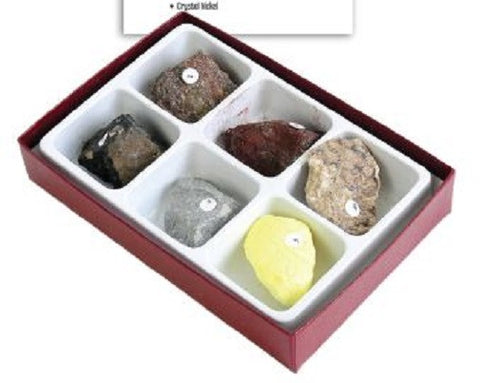 Martian Rock Simulation Kit 6 Piece Mars Mineral Collection