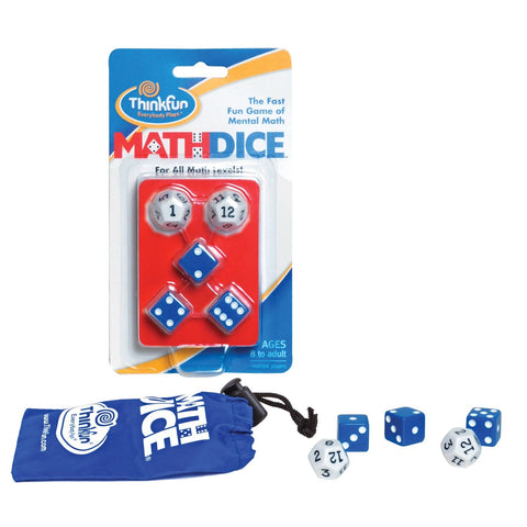 Math Dice - Fast Fun Mental Math Game - ThinkFun Toy