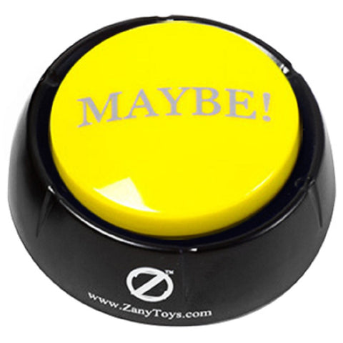 The MAYBE! Button Electronic Voice - 10 Versions of Maybe - Novelty Desk Toy