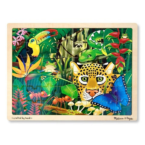 Rain Forest Jigsaw Tray Puzzle 48 Wooden Pieces