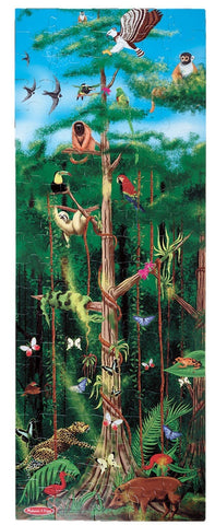 Big 1.5 by 4 Foot; 100 Piece;  RAIN FOREST Floor Puzzle
