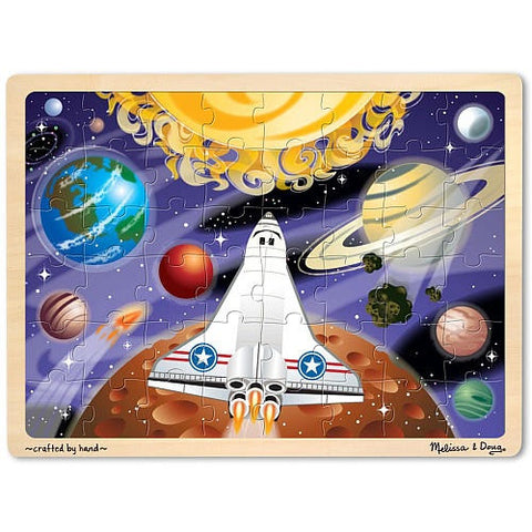 Space Voyage Jigsaw Tray Puzzle 48 Wooden Pieces