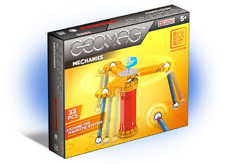 Geomag Mechanics Classic Magnet Construction Set - 33 Piece Magnetic Kit - STEM Compatible