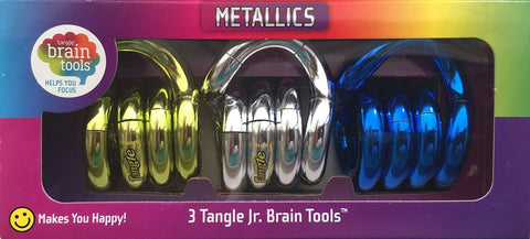 Tangle Jr. Brain Tools Puzzle Toy - Metallics 3 PK
