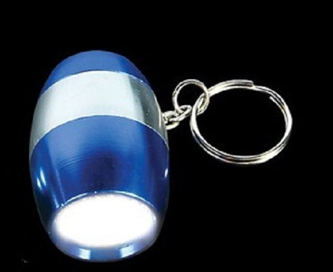 Metallic Blue LED Nugget Mini Flashlight with Carabiner Clip