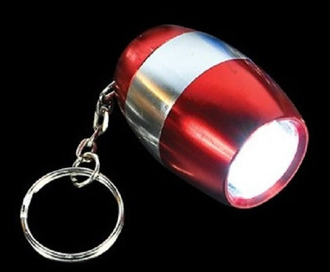 Metallic Red LED Nugget Mini Flashlight with Carabiner Clip