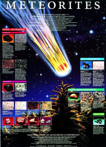 Meteorite - Laminated Science Poster 38x26""