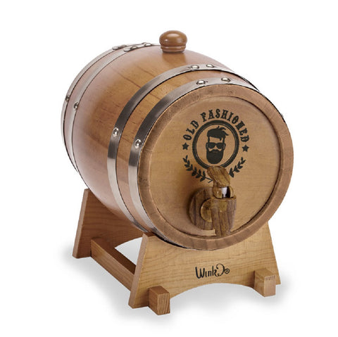 Micro Bro 1.5 Liters Wooden Barrel Beer Dispenser by Wink