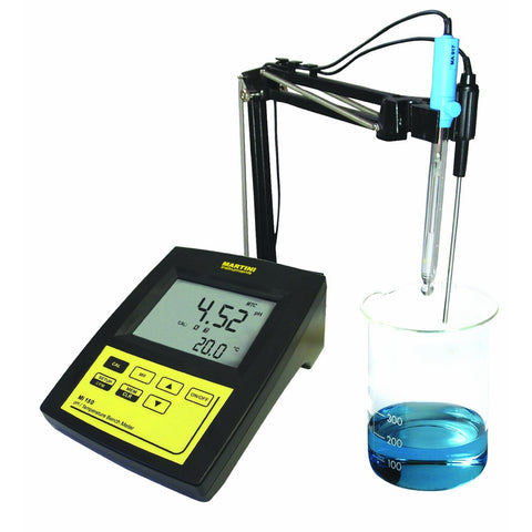 Mi150US pH/Temp Bench Meter -2.00-16.00pH/-20.0-120.0C by Milwaukee