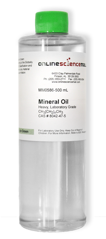 Mineral Oil, Heavy, 500ml - Lab Grade Chemical Reagent